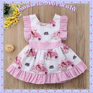 ✨Pink🆕💞Belle Get Lost In A Book Gingham Dress💞